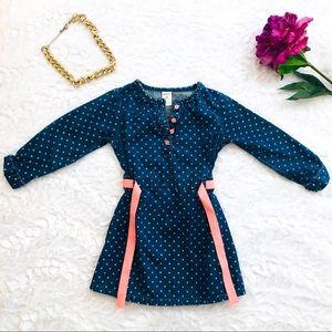 Carter's Dresses - Carter's Chambray Polka Dot Dress